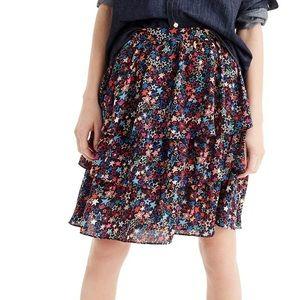 NWT J. Crew kaleidoscope star skirt (Petite Sz 6)